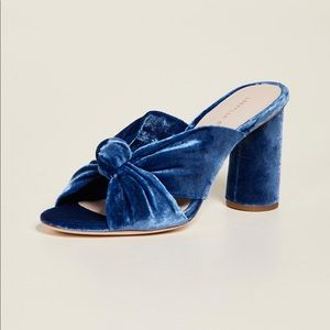 Loeffler Randall Coco Mules in River. Size 7.